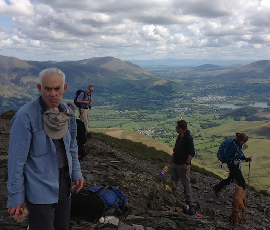 Arthur on Grisedale Pike, above Keswick, May 2012